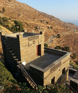 Παραδοσιακή πέτρινη κατοικία-Andros Serenity - Kalamaki