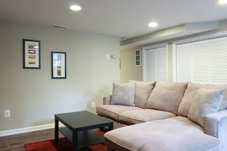 We are renting our townhouse's completely private downstairs apartment with a private entrance, bedroom, full bath, living area, and kitchenette. Two blocks from the Braddock Rd. Metro (easy access to DC) and a 10 minute walk to Old Town Alexandria.