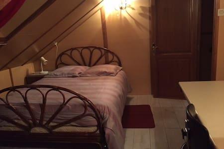 Chambre mansardée, 2 lits de couple - Saint-Amarin - Hus
