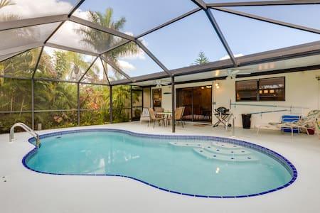 2 BD Tropical Garden House - Cape Coral - Maison