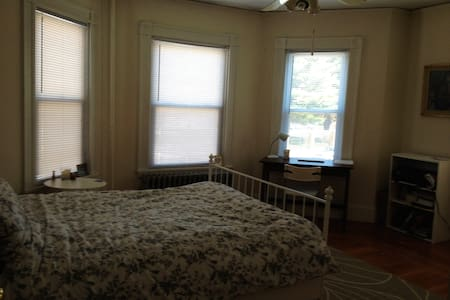 Large, sunny bedroom steps away from Harvard - Cambridge - Apartment
