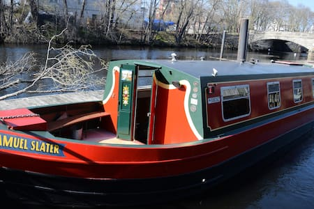 Authentic Canal Boat outside Prov. - Barco