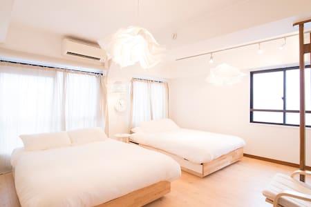✎ Designed room. max8ppl. white minimalist style - Apartemen