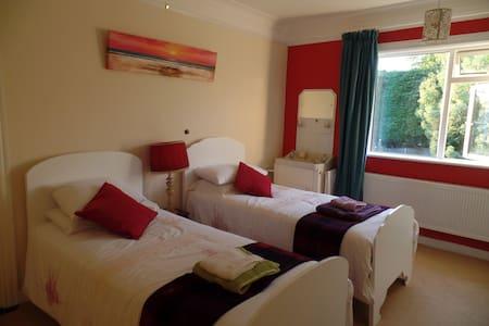 Large twin room; easy access to Dublin City centre - Dublin - House