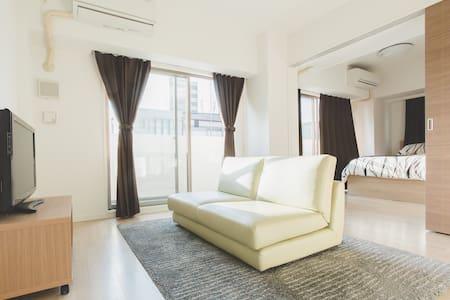 OSAKA機場接送 & Dotonbori 1min高級公寓日本橋車站1分  2BR - Daire