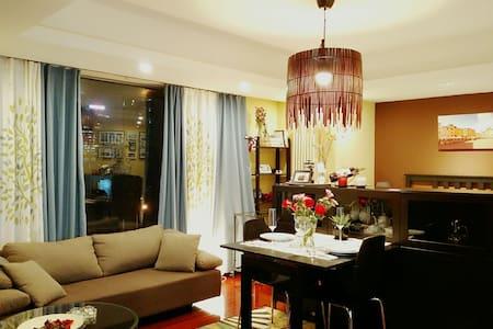 位于国贸CBD三里屯的阳光充沛的咖啡复古公寓 - Beijing