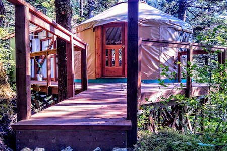 Oceanfront Yurt with Boat Tour #2 - Seward - Yurt