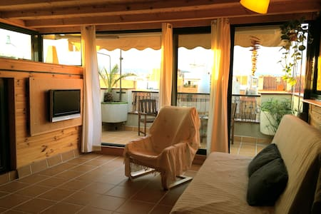 Cosy open studio close to the beach - Badalona