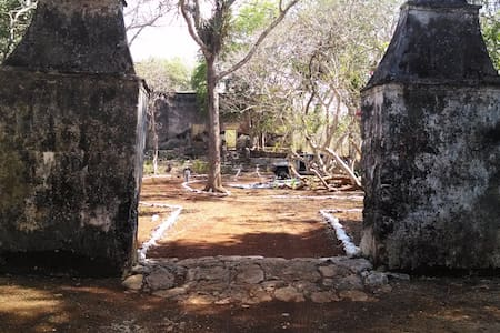 Abandoned Yucatecan Hacienda for Camping - Tent