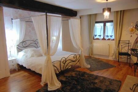 Chambre Noemie lit 160 à baldaquin - Notre-Dame-du-Touchet - Bed & Breakfast