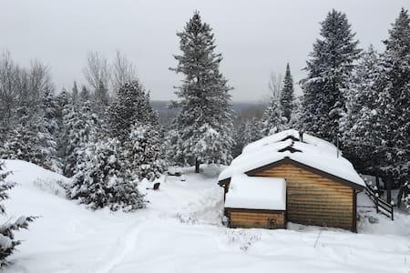 Rustic Wood Cabin near Tremblant - Boileau - Hytte