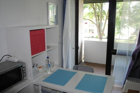 One room apartment with balcony / 5 min. to Panzer - Daire