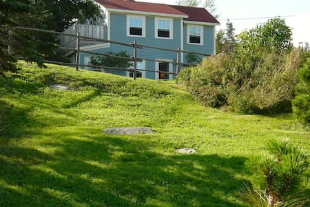 Blue House and Gardens on the Sea, Tors Cove, NL - Division No. 1, Subd. U