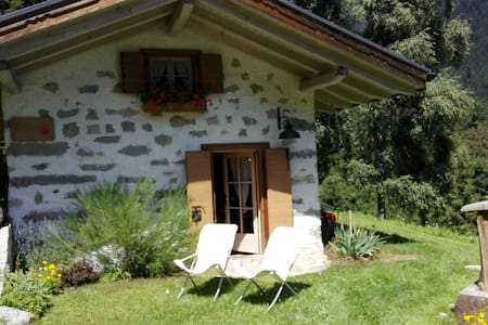 Baita alpina in Val Borzago, comune di Pelugo. - Kabin