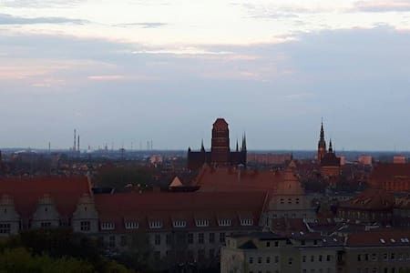 Sky View 126. Stunning window view of Gdansk. - 公寓