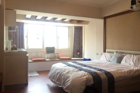 北投溫泉套房Hot Spring 新北投捷運步行三分鐘,純天然溫泉,寬敞明亮安靜清閒 - Beitou District - Apartment