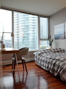 Cozy bedroom near Gastown with beautiful view - Vancouver - Appartement