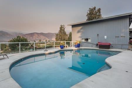 Bay View Poolside Getaway - House