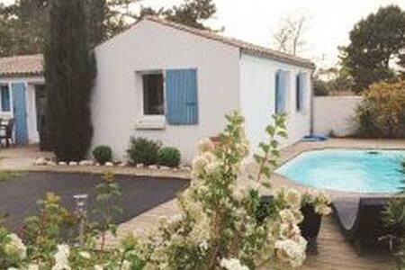 Oleron villa 6 pers, piscine privee, proche plage - Le Grand-Village-Plage
