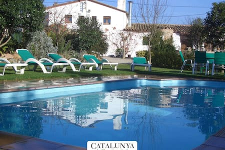Majestic Catalan mansion in Riudarenes for 20 guests, located just outside of Girona - House
