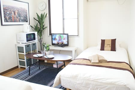 ②NEW Room★SALE★Close to Osaka Sta+Free WIFI and TV - Apartemen