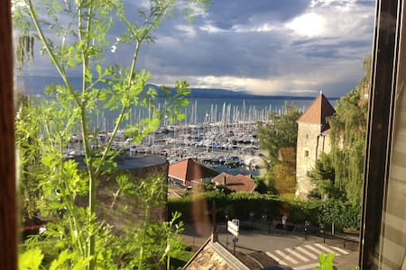 Grand appartement sur le port de Thonon - Apartment