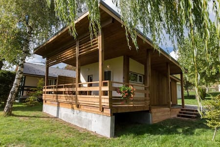 chalet bois grand confort 34m² - Dağ Evi