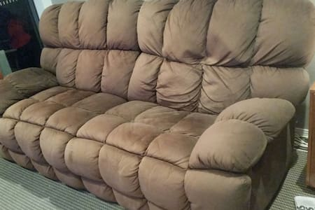 Comfy Couch, its seriously huge. - Apartment