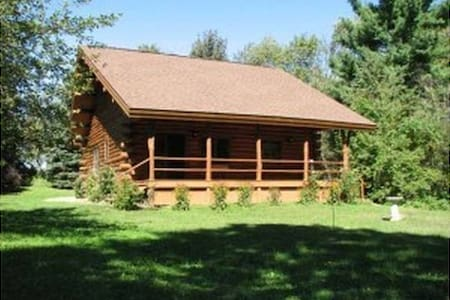 Beautiful New Log Home on 20 Acres - Evart - House