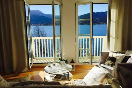 Wohnung mit Blick auf den Tegernsee - Apartemen