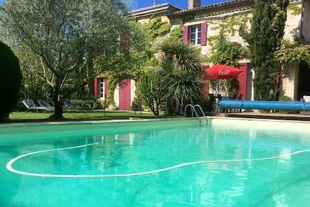Maison avec piscine, 15min Bordeaux - Ev