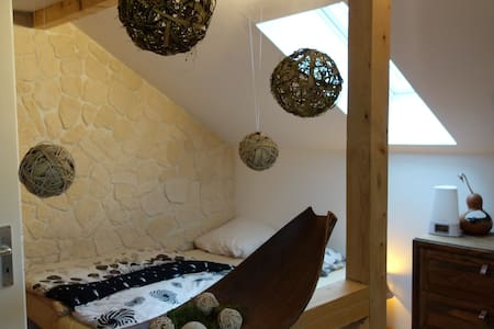 Big cosy attic room in Augsburg (near Munich) - House