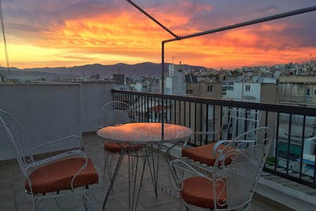 3 Balconies Penthouse Amazing View, Cozy & Stylish - Athen