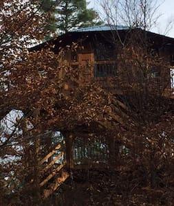 Enchanted Treehouse overlooks river - Blakeslee - Treehouse