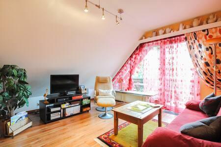 Traumhafte Dachgeschosswohnung mit Bergblick - Apartemen