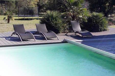 Grande maison contemporaine avec piscine - Verniolle