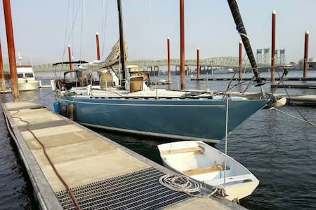 sailboat docked on columbia river