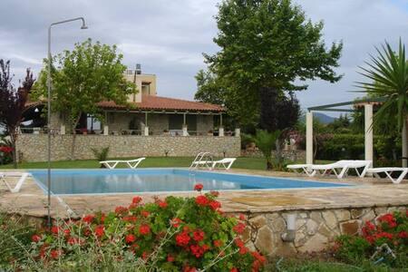 (A1) studio 1(35 m2),priv. beach,swim. pool and . - Livanates - Condominium