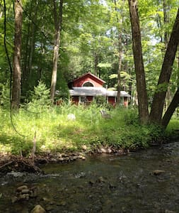 Oasis of quiet along mountain brook - House