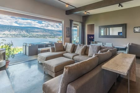 8 bedroom, 4 bathroom Panoramic Lake View home - Penticton - Hus