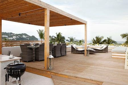 Bulabog penthouse+ roof deck - Malay - Appartement
