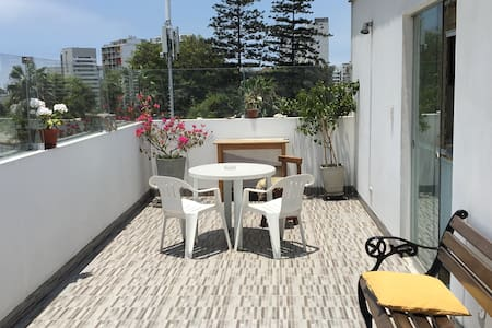 Amplia terraza para parrillas, eventos familiares - Barranco District - Lejlighed