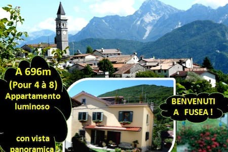"""Farniente a 4 """"o più"""" a 696m alt. con vista ! - Tolmezzo - Haus"""