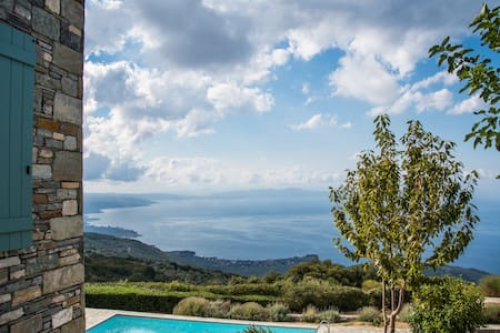 Pelion-Stonehouse with pool & amazing view - Agios Georgios Nilias - Villa