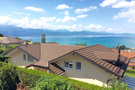 Lake view double room Lutry - Lutry - Hut