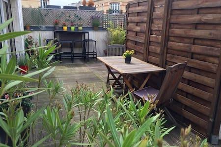 Agréable terrasse ensoleillée sans vis à vis - Boulogne-Billancourt - Lägenhet