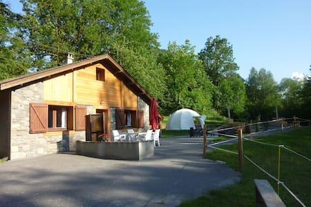 """Le """"nordique""""  : chalet, wigwam , bain norvégien - Rumah"""