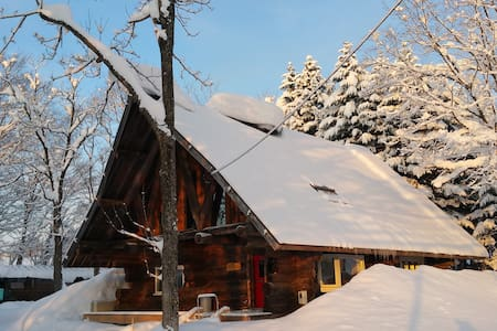 Gorgeous log cabin Niseko - powder snow heaven. - Blockhütte