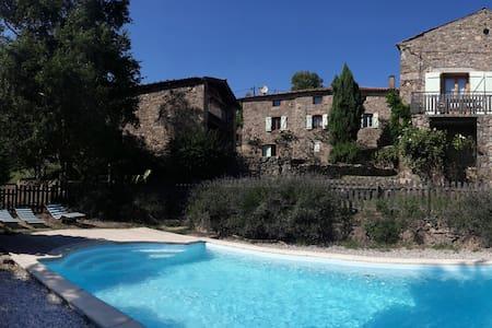 Gite en Ardèche verte 5 personnes - Saint-Alban-d'Ay - Haus