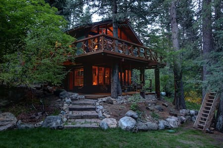 Treehouse Cabin on the Stream - Family Friendly - House
